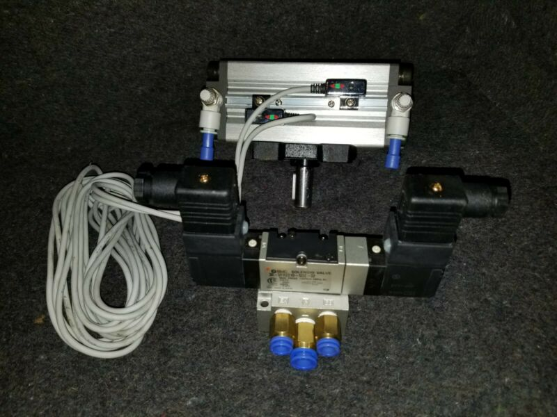 Pneumatic Rotary Actuator, Speed Control, Reed Switches AND Directional Valve