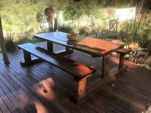 Dining Setting made from hardwood sleepers, made to order Hornsby Hornsby Area Preview