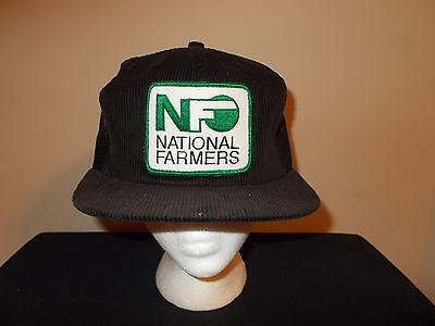 Vtg 1980S National Farmers Org Corduroy Agriculture Snapback Hat Sku21