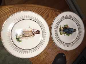 "Ralph 1750 Moses 1751 Enoch 1784 ""Pinky"" & ""Blue Boy"" Plate"