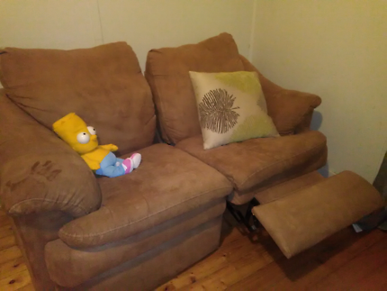Hi I have this brown caramel string sofa couches