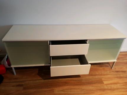 White console cabinet
