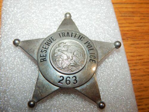 ANTIQUE ILLINOIS IL  RESERVE TRAFFIC POLICE  HMK C H HANSON CHICAGO IL