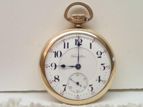 Hamilton 992 21J Vintage Pocket Watch in B&B Case Estate Item Needs Restoration