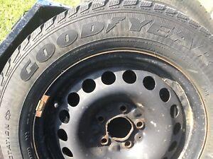 Winter tires 205-65-15 Goodyear ultra grip