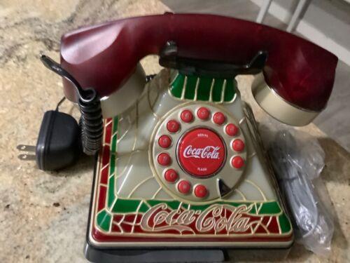 Vtg 2001 Coca Cola Telephone Tiffany Style Light up