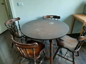 ***taken*** Solid wood dining table with 4 solid wood chairs