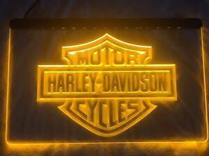 Affiche DEL Harley Davidson LED Sign.