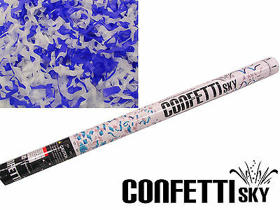 4 PC CONFETTI SKY blue streamer wedding cannon shooter party popper blaster - Blue Confetti Poppers