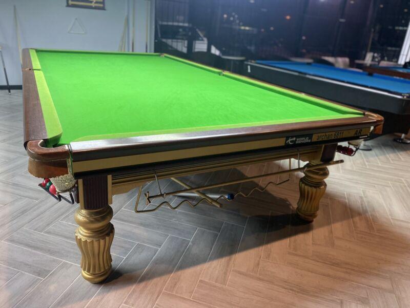 """Xingpai Snooker Table 12ft Full Size + LED LIGHT. """"STEEL BLOCK CUSHION"""