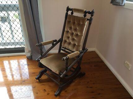 Antique rocking chair - Antique Pine Rocking Chair Antiques Gumtree Australia Canada