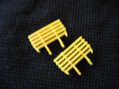 Matchbox Lesney #40 Hay Trailer Yellow Plastic Replacement Racks  only  1 PAIR Trailer Hay Rack