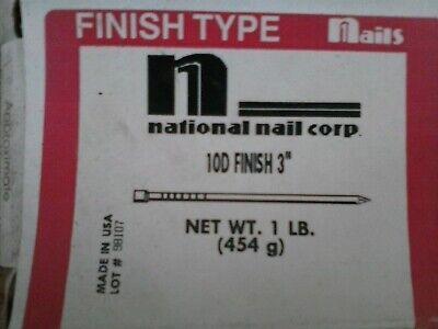 National Nail 10d X 3 Bright Finishing Nails 1 Lb. Made In Usa