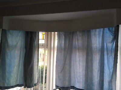 "light blue Curtains Size 58 ""wide x 51"" drop"