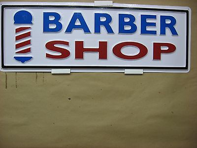 Barber Shop Pole Service Sign 3d Embossed Plastic 7x22 Hair Cuts