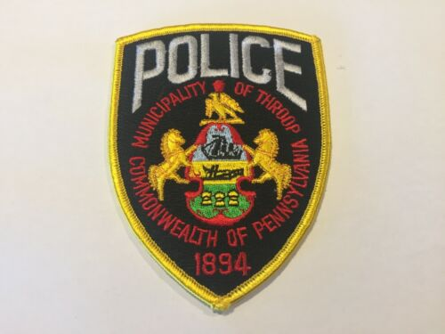 Throop PENNSYLVANIA Police Patch
