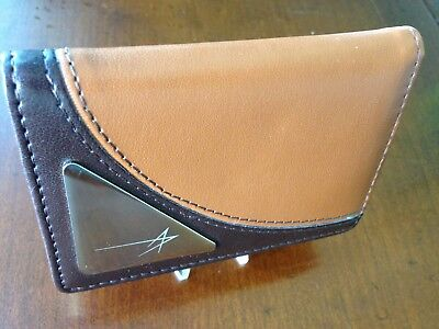 New - Handsome Lockheed Martin Corporation Brown Leather Business Card Holder
