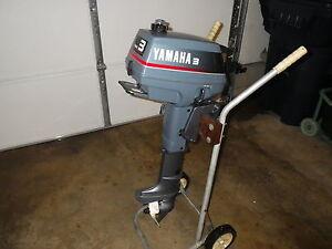 Yamaha 3 Hp Outboard Motor Short Shaft 2 Stroke 1991 Very