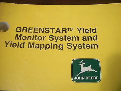 John Deere Operators Manual Combine Greenstar Yield Monitor Mapping System