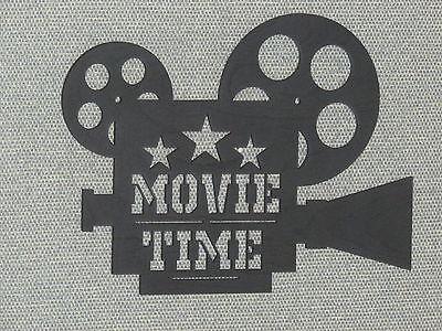 CUSTOM MOVIE TIME CAMERA & REELS CINEMA HOME THEATER WALL DECOR ART