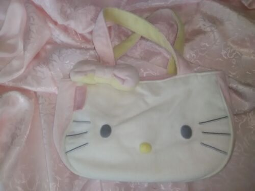 Hello Kitty White Plush Reversible Hand Bag
