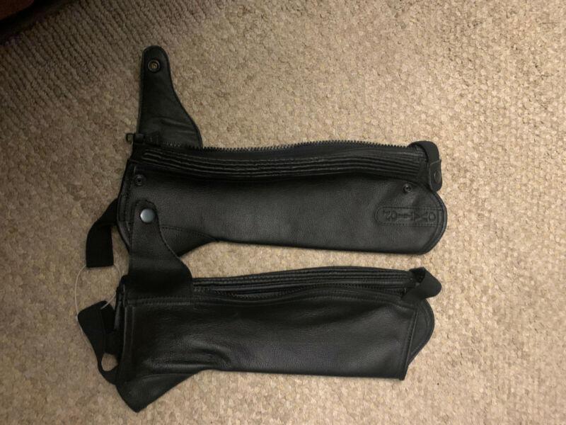 Ovation extra-small black half-chaps - NEW, never worn