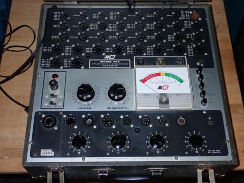 B&K Model 700 Vacuum Tube Tester, Freshly Calibrated, Works Well, With Manual