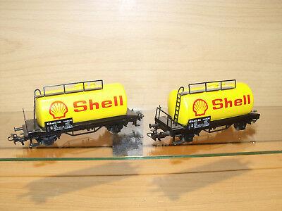 1556) Angebot - Märklin HO - 2 Stk. Kesselwagen SHELL - ansehen