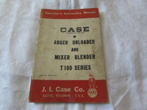 1959 Case Auger Unloader Mixer Blender tractor OP MANUAL T100 farm equip book