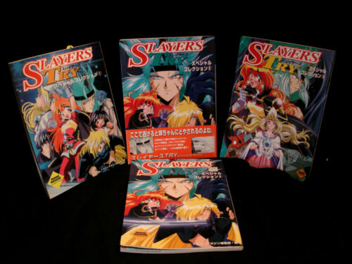 SLAYERS TRY ART BOOK #1 #2 #3