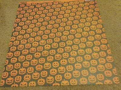 Scrapbooking Crafts 12X12 Paper DS Halloween Wicked Jacks Pumpkins O' - Halloween Paper Lanterns Crafts