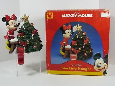 1999 Minnie Mouse by Santa's Best Stocking Hanger Christmas Tree with Box