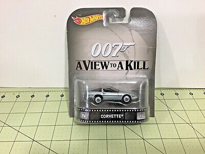 "Hot Wheels Entertainment 007 A View To A Kill ""Corvette"" FREE Shipping!"
