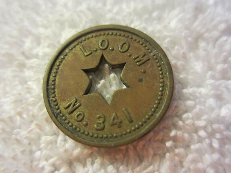 Vintage Antique Loyal Order of Moose Lodge L.O.O.M Token Mansfield Ohio ,341
