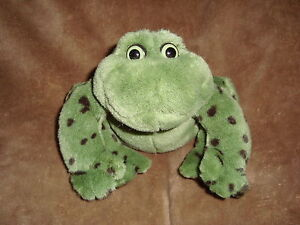"Gund Jeremiah Spotted Bull Frog With Coaking Noises Plush 1985 6""t x 8"" L"