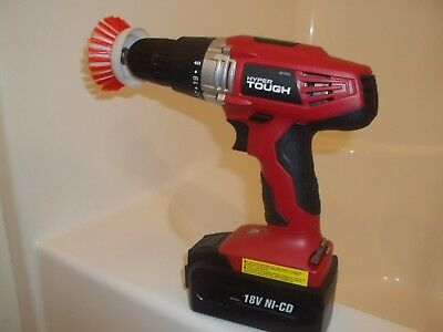 Nifty Drill Powered Scrub Brush For Bathtub & Tile Cleaning. USA SELLER