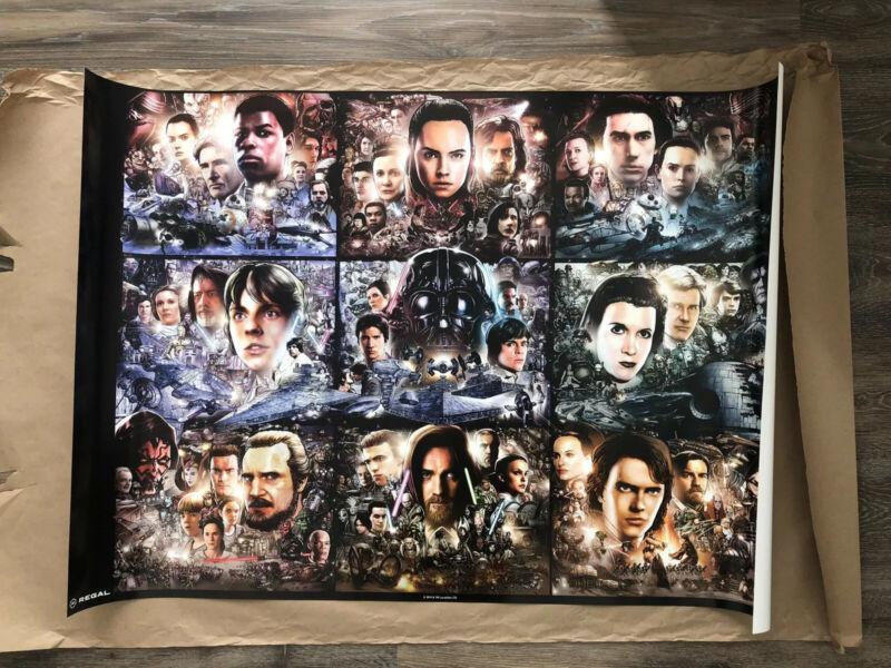 Star Wars The Rise of Skywalker Regal Exclusive Art Print Poster 39X26.75 INHAND
