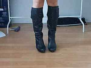 Ladies fashion: leather knee boots for sale Alexandria Inner Sydney Preview