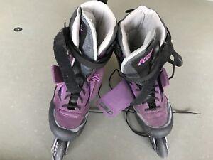 Women's K2 Exotech Extreme Flight Carbon Inline Skates Size 8