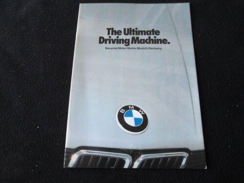1982 BMW 528e 320i 633CSi 733i Sales Brochure M1 Warhol Art Car Pro-Car Catalog