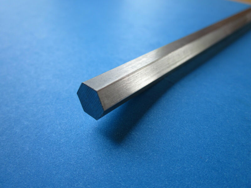 "0.25"" (1/4) x 12"" Stainless Steel Hex Rod, Hexagonal 303"