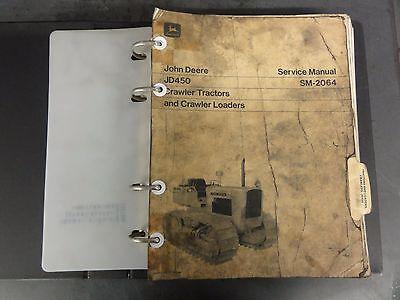 John Deere Jd450 Crawler Tractors And Crawler Loaders Service Manual Sm-2064