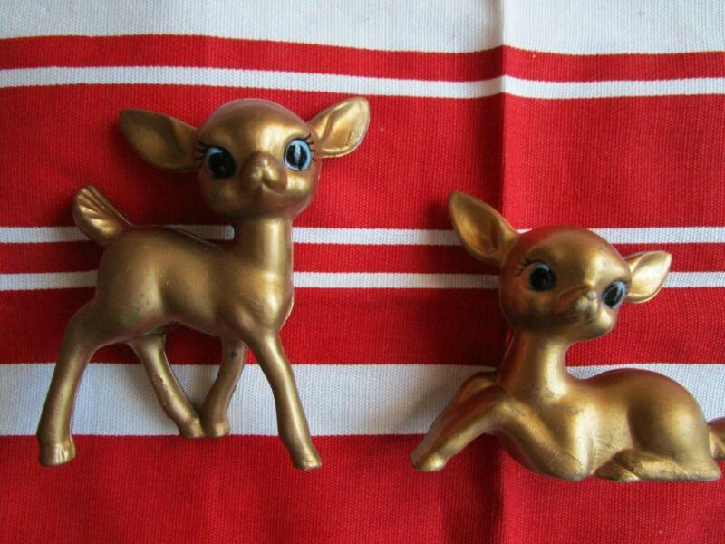 3 Vintage Plastic Christmas Deer