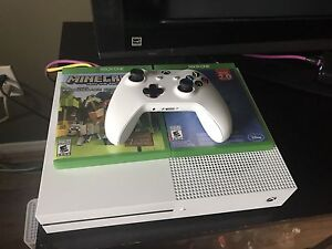 Xbox One S with controller and 2 games