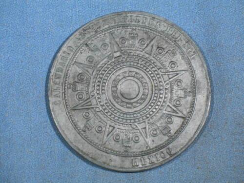 Vintage Aztec Calendar 2-7/8 inch Paperweight Medallion