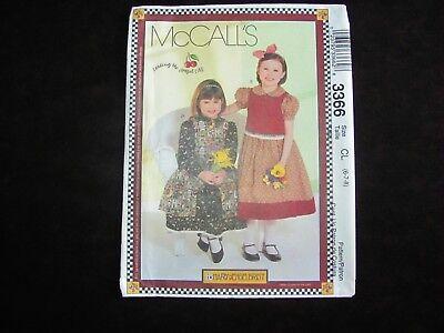 McCALLS Sewing Pattern 3366 Girls Dress Pinafore Vest Mary Engelbreit Size 6 - 8