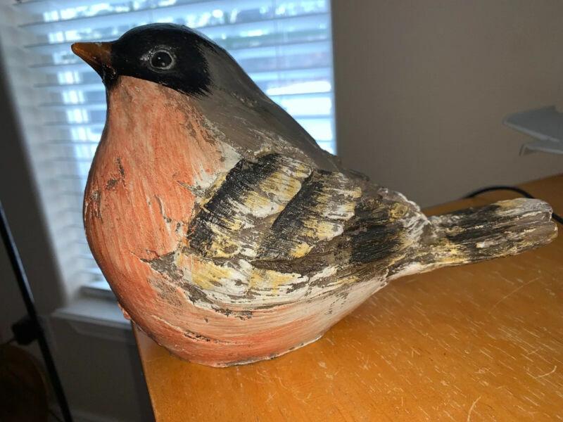 Beautiful Large Resin Robin Bird Figure Shelf Or Outside Garden Beautiful!