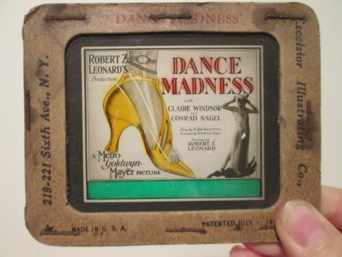 Dance Madness    -Original 1926  Movie Glass Slide - Hedda Hopper