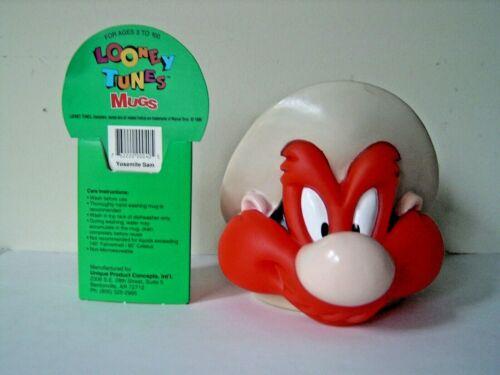 VINTAGE 1992 LOONEY TUNES YOSEMITE SAM PLASTIC 3-D MUG