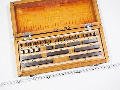 Fromeu Precision Metric Slip Gauge Block Set 0-100mm 38 Pcs Grade 1 Mint